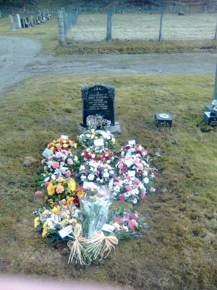 Funeral flowers for the late Mrs Mary Christie